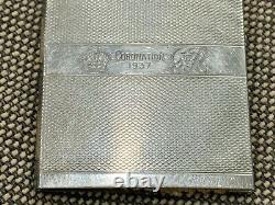 Antique 1937 King George VI Queen Elizabeth Coronation Silver Plated Notebook