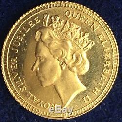 Antique 9ct Gold Queen Elizabeth 2nd Silver Jubilee Commemorative Coin 375