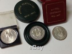 Antique Rhodesia 1953 Queen Elizabeth II Rhodes lot 3 silver coin medal M1911