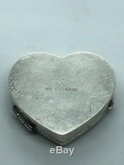Ari Norman Silversmith to Queen Elizabeth Sterling Silver Trinket Box Heart SALE