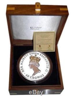 Ascension Islands 2012 60 Crowns Queen Elizabeth II 60 oz Silver Coin 60 Diamond