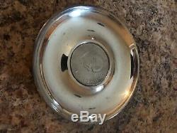 Asprey Sterling Silver Coin Dish Winston Churchill and Queen Elizabeth