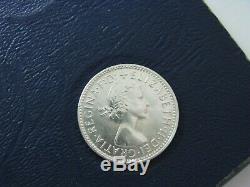 Australia 1960 Silver Shilling coin Queen Elizabeth II GEM Choice UNC + A1 A51