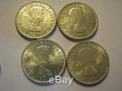 Australia Silver Florin1953 1963 Set Nice Queen Elizabeth 11 Coins AUNC UNC