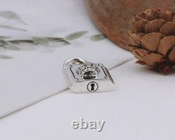B21 Pendant Lock With Crown Sterling Silver 925
