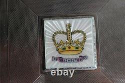 Boite argent émaux silver enamel Coronation of Queen Elizabeth II 1953 (36894)