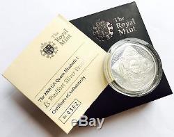 Boxed 2008 UK Queen Elizabeth 1st £5 Piedfort Silver Proof Coin & Certificate