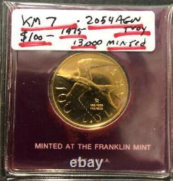 British Virgin Islands 1975 $100 Gold Bu Depicts Queen Elizabeth II & Royal Tern