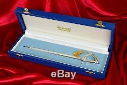 C1980 Rare Wilkinson Sword #0040 Solid Silver Hilt Queen Elizabeth II London