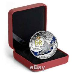 CANADA 2016 QUEEN ELIZABETH II 90TH BIRTHDAY CELEBRATION 99.99% SILVER COIN