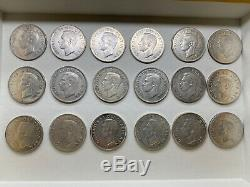 Canada 1952 50 Cent Half Dollar Queen Elizabeth Canadian 18 Silver Coins