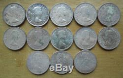 Canada 1953-1967 $1 Dollar Queen Elizabeth QEII Silver Coin Collection