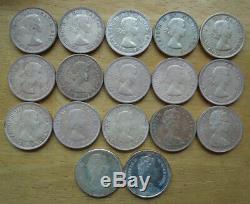 Canada 1953-1973 $1 Dollar Queen Elizabeth QEII Silver Coin Collection