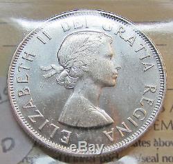 Canada 1954 50 Cents ICCS MS 65 Silver Queen Elizabeth II GEM UNC