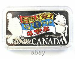 Canada 2019 $25 Her Majesty Queen Elizabeth II's Personal Canadian Flag Silver