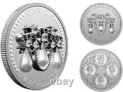 Canada 2021 $20 HRM Queen Elizabeth II's Lover's Knot Tiara Fine Silver Coin