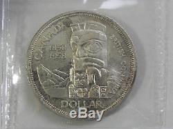 Canadian Gem 1958 Queen Elizabeth II Silver Dollar ICCS Certified MS65 BV-$500
