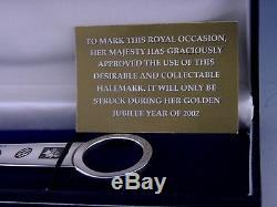 Cased Solid Silver Letter Opener Queen Elizabeth Golden Jubilee 2002