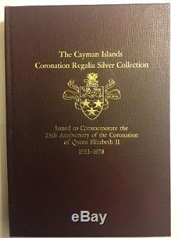 Cayman Islands 1978 Set 6 Silver Coins $25 oronation of Queen Elizabeth II Rare