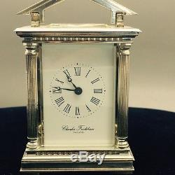 Charles Frodsham Silver Carriage Clock Limited Edition-Queen Elizabeth II 40th