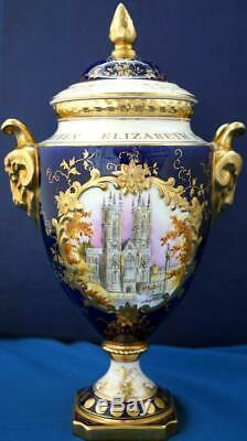 Coalport Royal Commemorative Queen Elizabeth II Silver Jubilee Lidded Vase LE