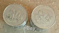 Coin Silver Canadian 1-1/2 ounce BU 2014 Arctic Fox & Queen Elizabeth II RARE