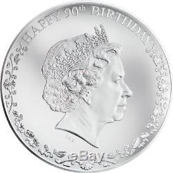 Cook Inseln 20 Dollar 2016 90. Geburtstag Queen Elizabeth II. 3 Oz Silber PP