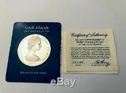 Cook Islands-1977-$25 Dollar Sterling Silver Proof Coin The Queen Elizabeth II