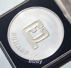 Cunard Line Rms Queen Elizabeth 2 Qe2 Silver Maiden Voyage Era Variant Medallion