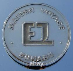 Cunard Line Rms Queen Elizabeth 2 Qe2 Solid Silver Maiden Voyage Medallion