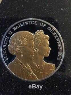 DIAMOND JUBILEE Queen Elizabeth II 1952-2012 SILVER £5 COIN SET, Boxed & COA
