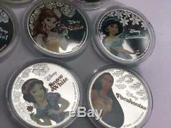 Disney princesses silver commemorative medal Queen Elizabeth coin 11 sheets