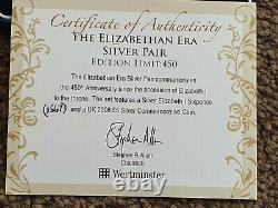 ELIZABETH I SIXPENCE 1567 & 2008 Queen Elizabeth I Silver Proof Five Pound £5
