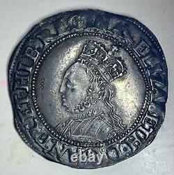 EXQUISITE Queen Elizabeth 1st Silver Shilling Martlet Mintmark (1560-1561)