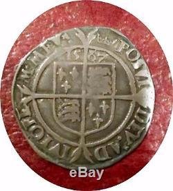 England 1567 Queen Elizabeth Hammered Silver 6 Pence Super Portrait & Strike