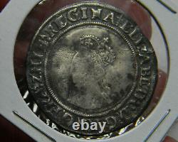 England Queen Elizabeth I Shilling First Issue (1559 -1560) S-2549