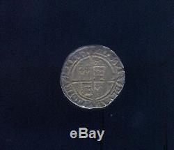 England, Very Fine 1570 Silver 6 Pence Of Queen Elizabeth, Free USA Shipping