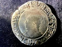 English Hammered Silver Coin Queen Elizabeth 1st. One Shilling 1560 61