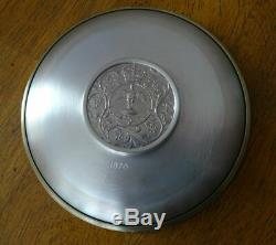 English Sterling Silver Jubilee Crown Dish, Queen Elizabeth Ii, Cased & Coa