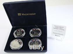 Falkland islands 2002 Queen Elizabeth II Golden Jubilee Silver Proof coins 4 set