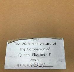 Franklin Mint Sterling Silver Queen Elizabeth Plate II