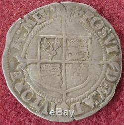 GB Groat Queen Elizabeth I 1560-1 Second Issue mm. Cross Crosslet (E2505)