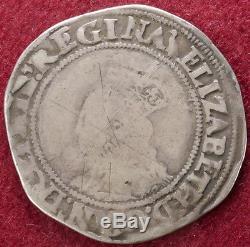 GB Shilling 1560-1 Queen Elizabeth I mm. Martlet (C1806)