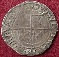 GB Shilling 1592-95 Queen Elizabeth I 6th Issue mm. Tun (C2103)