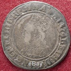 GB Shilling Queen Elizabeth I 2nd Issue mm Martlet (D1807)