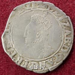 GB Shilling Queen Elizabeth I 6th Issue mm. Escallop (C2103)