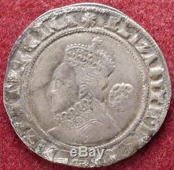 GB Sixpence Queen Elizabeth I 1573-8 mm. Eglantine (D1807)