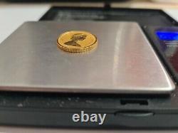 Gold 1/4 oz Canadian Maple leaf Queen Elizabeth Reverse Proof 10 Dollars 2015