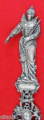 Gorham QUEEN ELIZABETH Sterling Silver 9 1/8 FIGURAL SPOON
