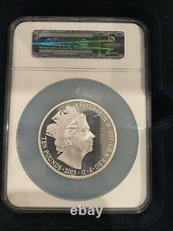 Great Britain Queen Elizabeth 2 PF 70 5 oz Silver 2015 First Struck